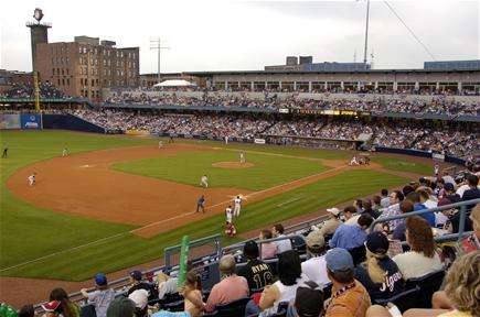 Toledo Mud Hens Baseball game at Fifth Third Field 2006 photo credit Bruce Works