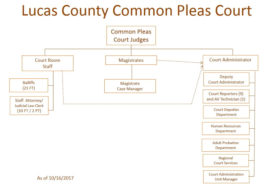 Common Pleas Court Org Chart 10-16-2017