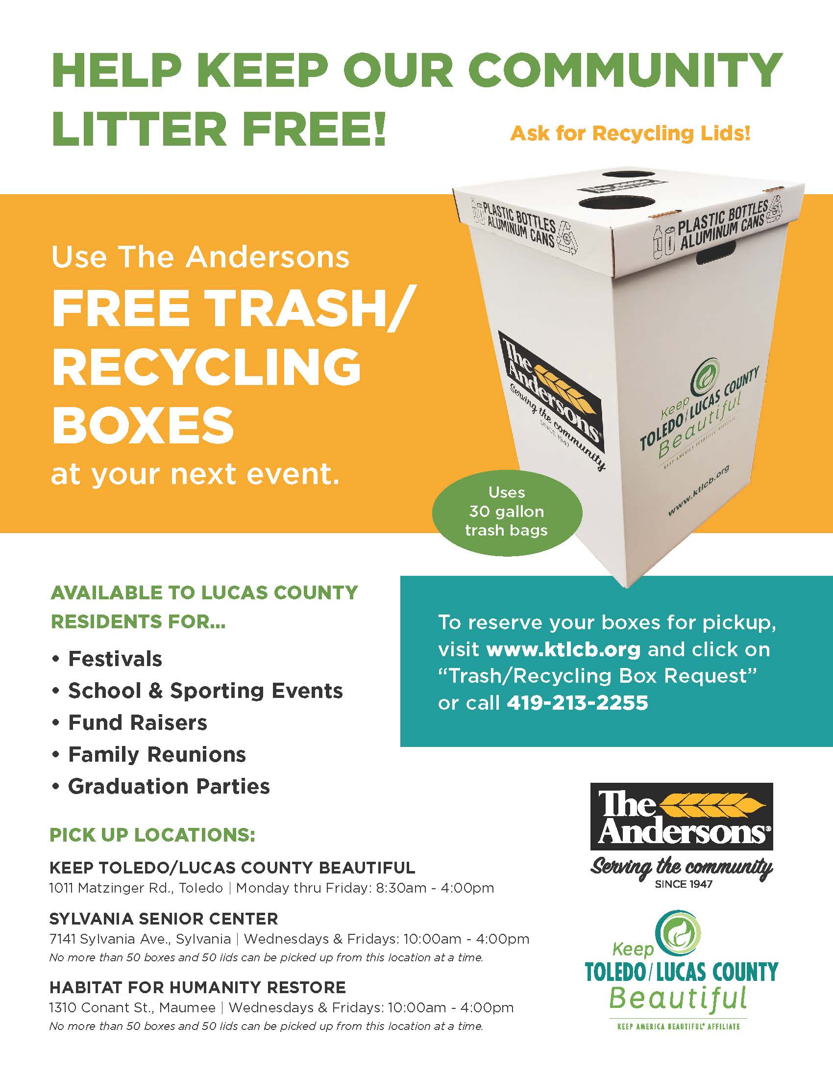 Trash Boxes Flyer