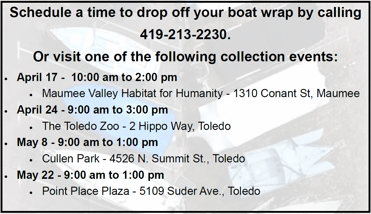 Boat Wrap Recycling Dates
