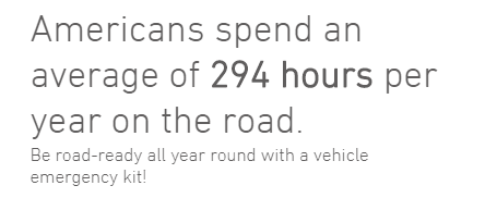 Americans spend an average of 294 hours per year on the road